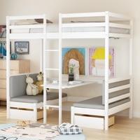 Функциональная двухъярусная кровать, двухъярусная кровать для детей, спальная кровать, трансформируемая кровать, бесплатная доставка США