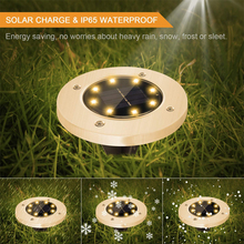 Outdoor Solar Led Underground Lamp Waterproof Ip66 Courtyard Lamp Solar Street Light Garden Buried Stair Yard Garden Lawn