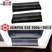 Soleiras da porta para citroen jumper 250 2006 plastic 2013 plástico abs passo placa interior guarnição acessórios proteção scuff estilo do carro decoração|Estilo de cromo| |  -