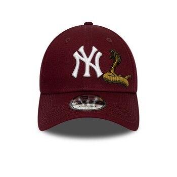 New Era Gorra de béisbol 9FORTY MLB Twine York Yankees Granate baseball cap, caps for men, hat, summer, cap for women, snapback