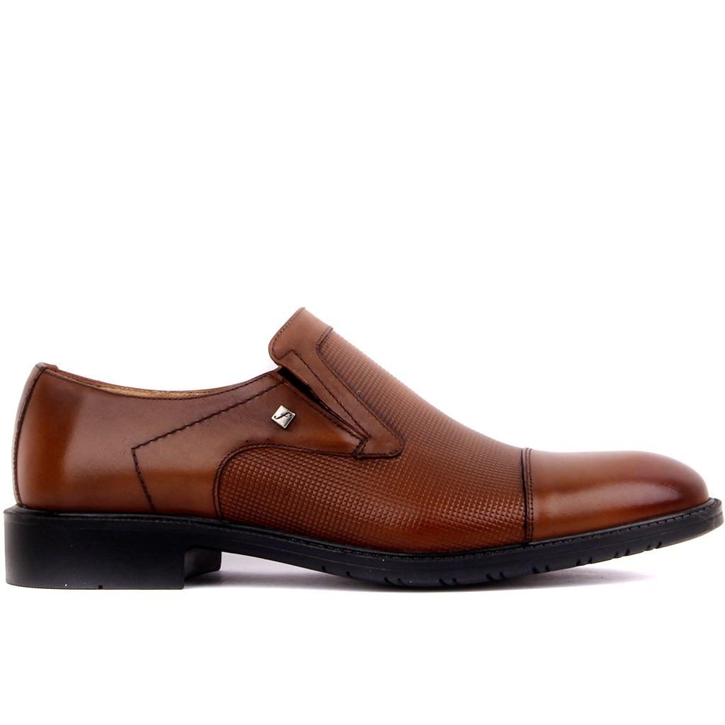 Fosco-Tan Leather Men 'S Casual Shoes