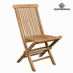 Składane krzesło z drewna tekowego na