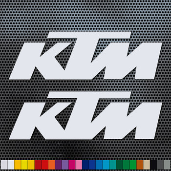 2 X VINILO ADHESIVO KTM RACING, PEGATINA, LOGO, ADHESIVO, MOTO, STICKER, DECAL.