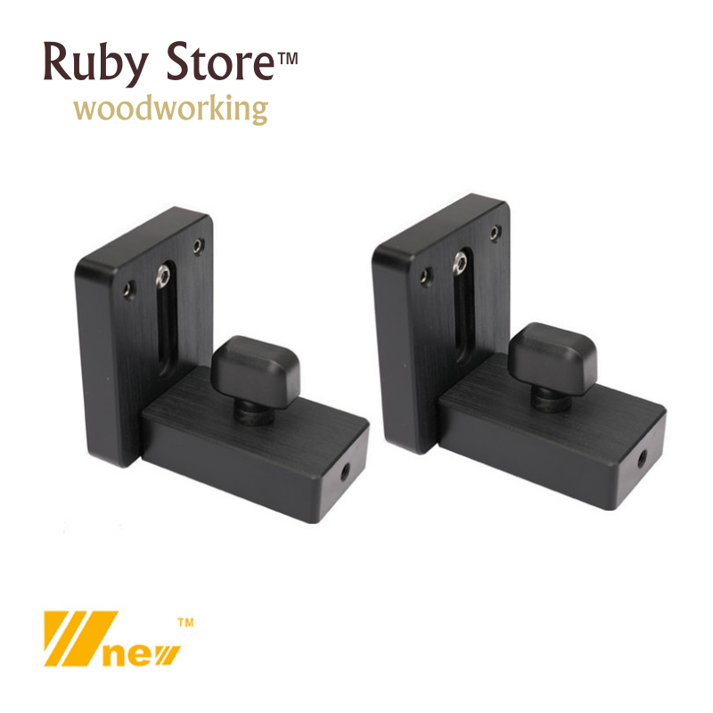W-new Set Of 2PCS T-track Sliding Brackets For Fence, Woodworking, Router Table, Table Saw