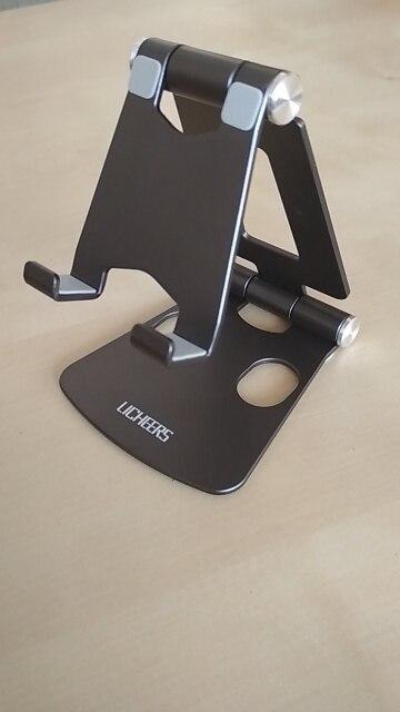 Support à poser en métal pour téléphone portable ou tablette