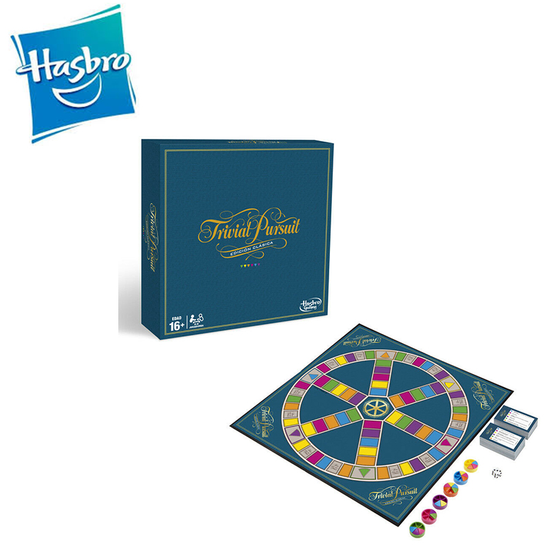Hasbro-juegos Adult Trivial Classic Gaming, More Than 16 Years Trivial, Over 2400 Questions Answered C1940105