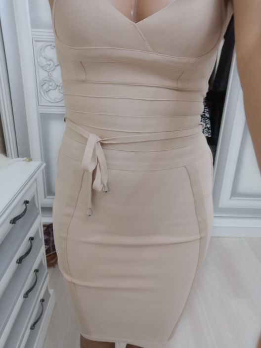 Women Bandage Dress Rayon Sleeveless Summer New Arrivals Sexy Deep V Neck Vestido Bodycon Bandage Dress Club Party photo review