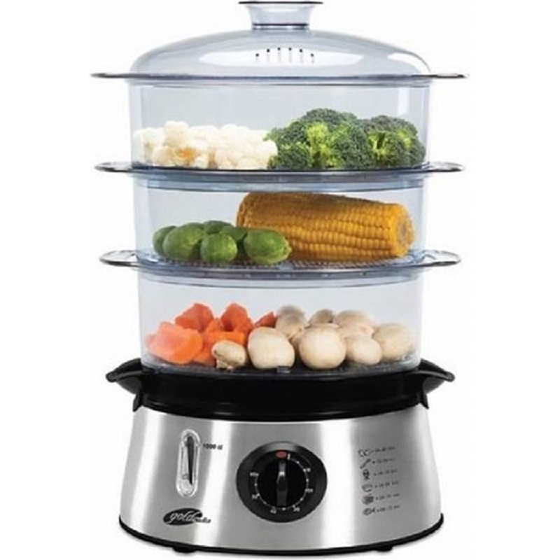 QUALITY TURKISH TRADEMARK - 3 LAYERS - 8,4 LT. CAPACITY - TIMER - GOLDMASTER GM-7439 DIETIST STEAM COOKER - INCLUDED CARGO