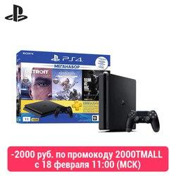 سوني بلاي ستيشن 4 سليم (1 تيرا بايت) أسود (CUH-2208B) + لعبة HZD + لعبة ديترويت + لعبة تلو + PS Plus 3-ме138.