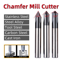 цена на Chamfer Milling Cutter 60 90 120 Degree Straight Cemented Carbide Cutting Tool