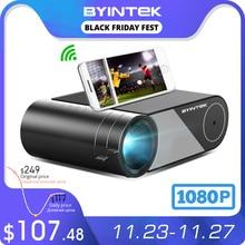 BYINTEK Przenośny projektor K9 Mini, 1280x720p, LED, do filmów 1080p 3D 4K Cinema z opcją Multi Screen dla iPhone