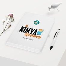 Personalized Chemistry Teacher Themed White Notebook Pen Gift Set-1
