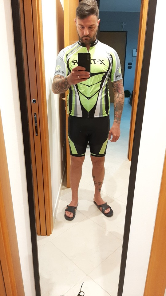 Summer Comfortable Men's Polyester Cycling Clothing Set photo review