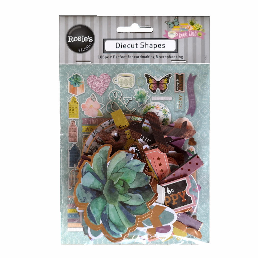 CRZCrafter Paper Diecuts Printed Foil Design 106pcs For Scrapbooking Cardmaking Journal Embellishments