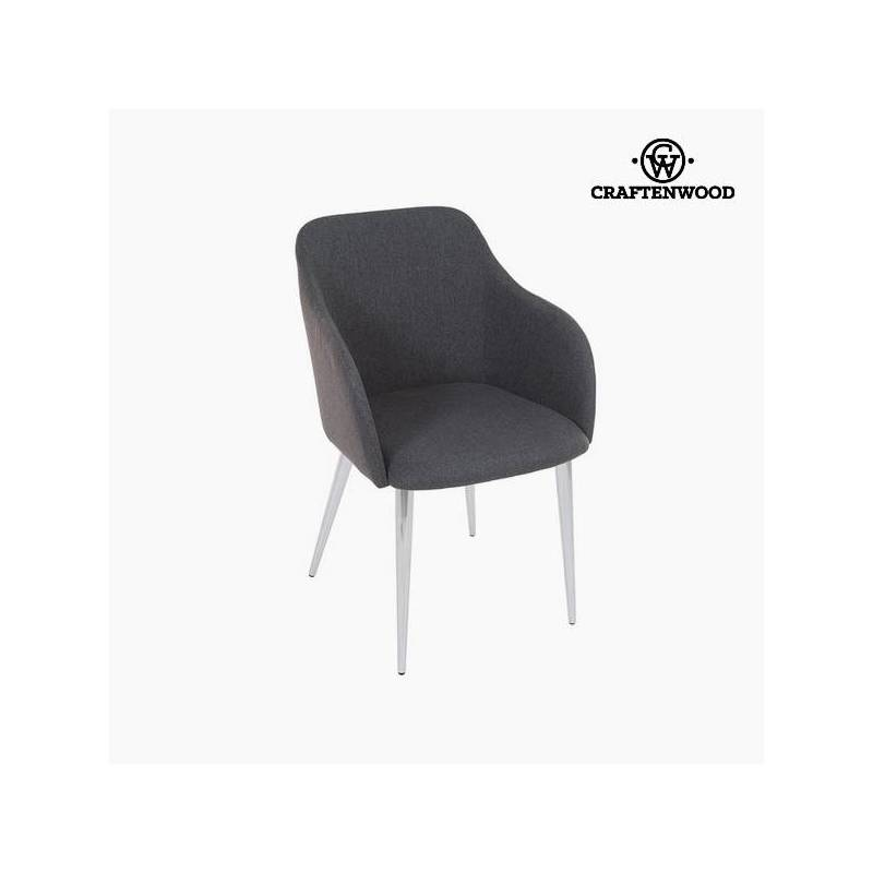 Gray Chair Polyester Filling (57x52x83 Cm) By Craftenwood