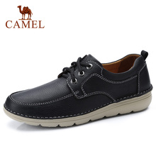 CAMEL Mens Shoes Autumn Winter Tooling Casual Genuine Leather Men Shoes Casual Lightweight Outsole Cowhide Fashion Shoes Men