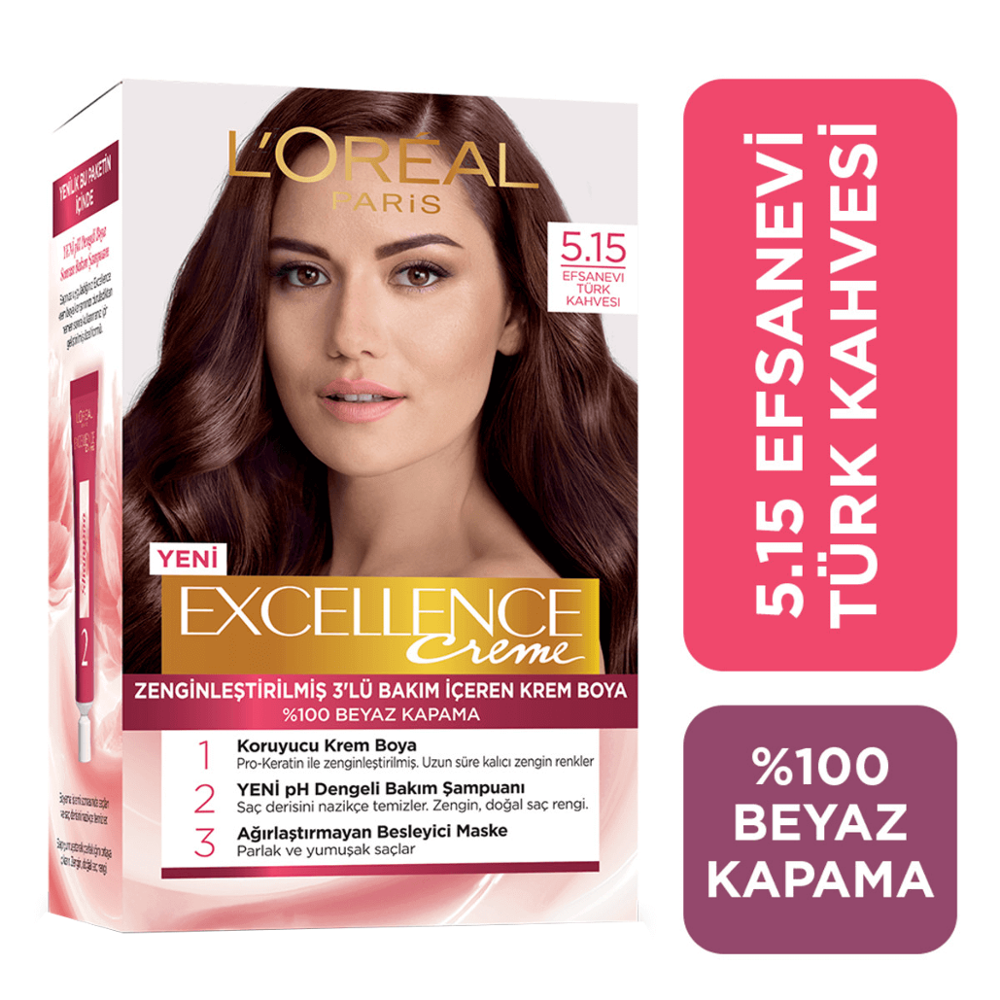 L'OREAL PARIS EXCELLENCE CREME Legendary Turkish Coffee Hair Dye 5.15