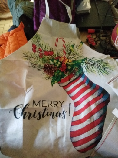 Christmas Day Patterned Design Creative Arts Apron photo review