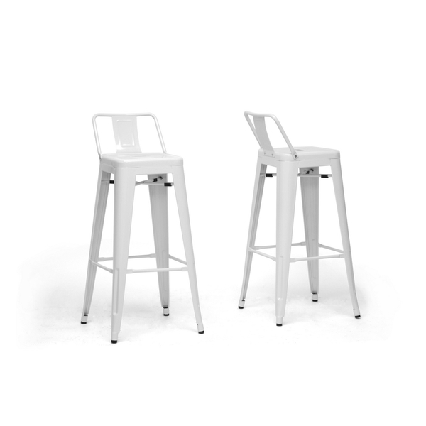 Stool TOL SEA, White Steel