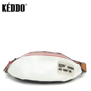 Women's Waist Bag Black/white Keddo