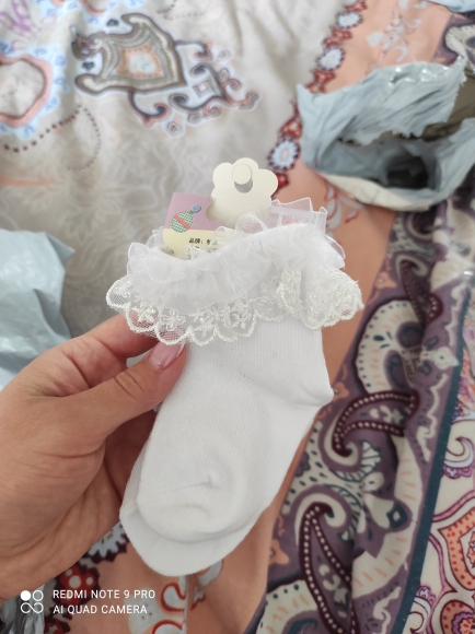 YWHUANSEN 0 to 6 Yrs Toddler Baby Child Girls Ruffle Lace Ankle Cotton Dress Socks Princess Summer Cotton Eyelet Flower Socks photo review