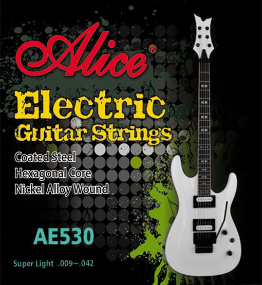 Ae530sl 531 Electric Guitar String Kit, Nickel, 9-42 [12] Alice