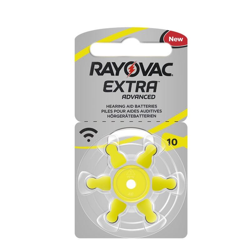 60 PCS RAYOVAC EXTRA Zinc Air Performance Hearing Aid Batteries A10 10A 10 PR70 Hearing Aid Battery A10 Free Shipping 4