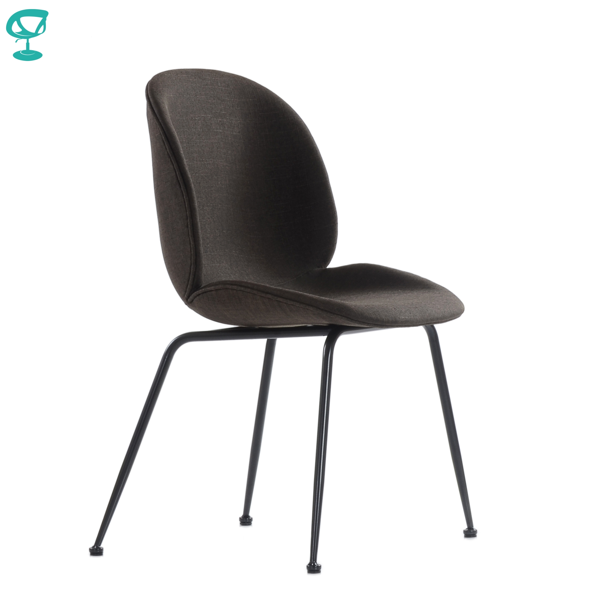 95742 Barneo S-17 Kitchen Chair On Metal Legs Seat Fabric Chair For Living Room Chair Dining Chair Furniture For Kitchen