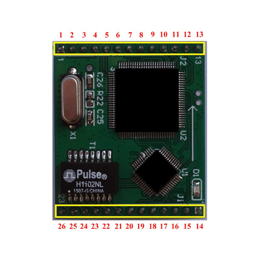 Taidacent Serial Server 4 Way TTL To Network IoT Serial Port To Network Adapter Network To Serial Port Ethernet To Serial Server