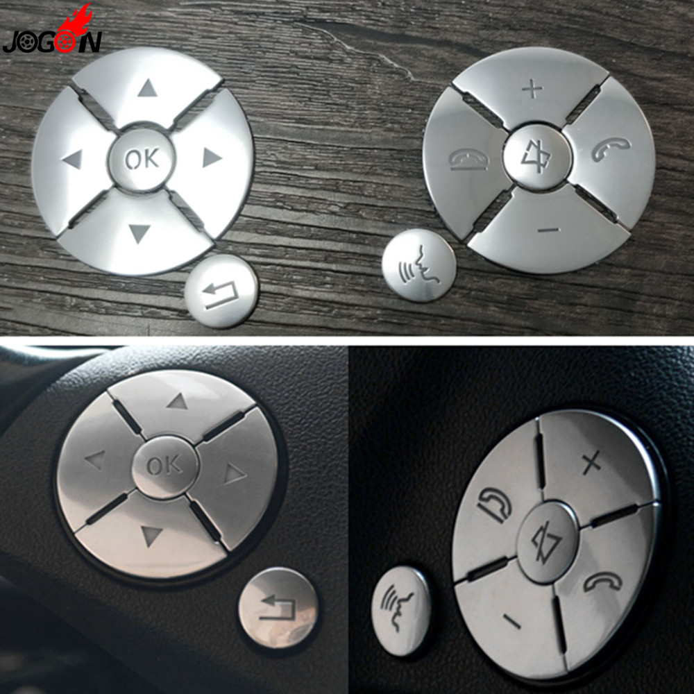 Etiqueta de la cubierta del interruptor del botón del volante Interior del coche para Mercedes Benz C E S clase W204 W212 W221 GLK x204 C200 C250 Nuevo Multi Color USB Iluminación led interior de coche Kit atmósfera luz neón lámparas