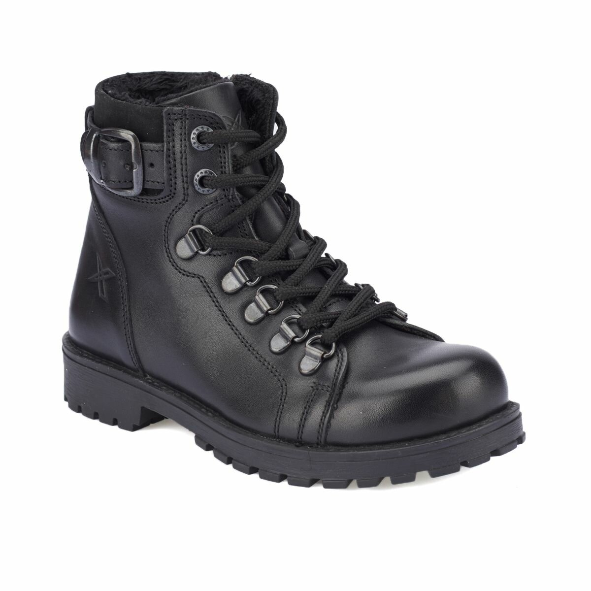 FLO SARDONE LEATHER Black Male Child Boots KINETIX