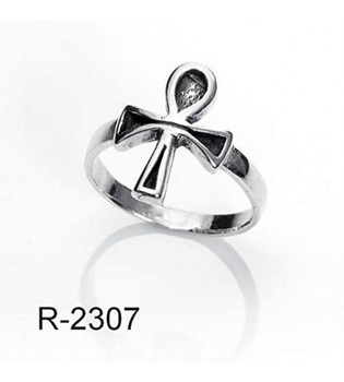 Ring Silver Cross Of Life (Made In Spain Solid Silver) (22)