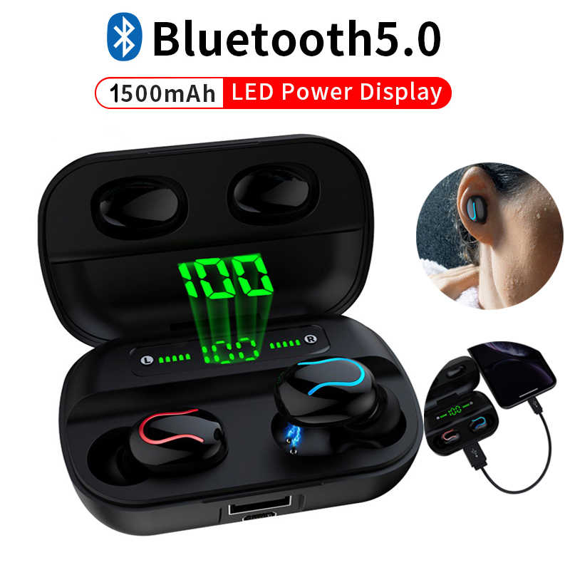 Auriculares Q32 Bluetooth auriculares TWS, auriculares inalámbricos Bluetooth 5,0, Auriculares deportivos manos libres con micrófono