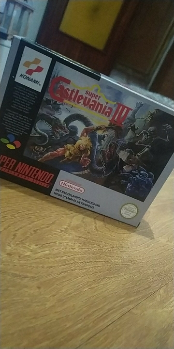 Super Castlevania IV with box 16bit game cartridge for pal console photo review