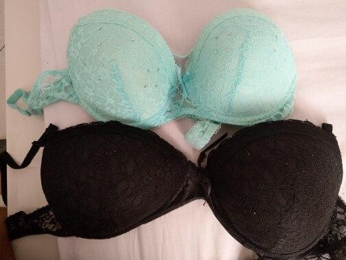 [Hot sales] New 2019 Lace Drill Bra Set Women Plus Size Push Up Underwear Set Bra And Thong Set 34 36 38 40 ABC Cup For Female bra set bra set womenthong set - AliExpress