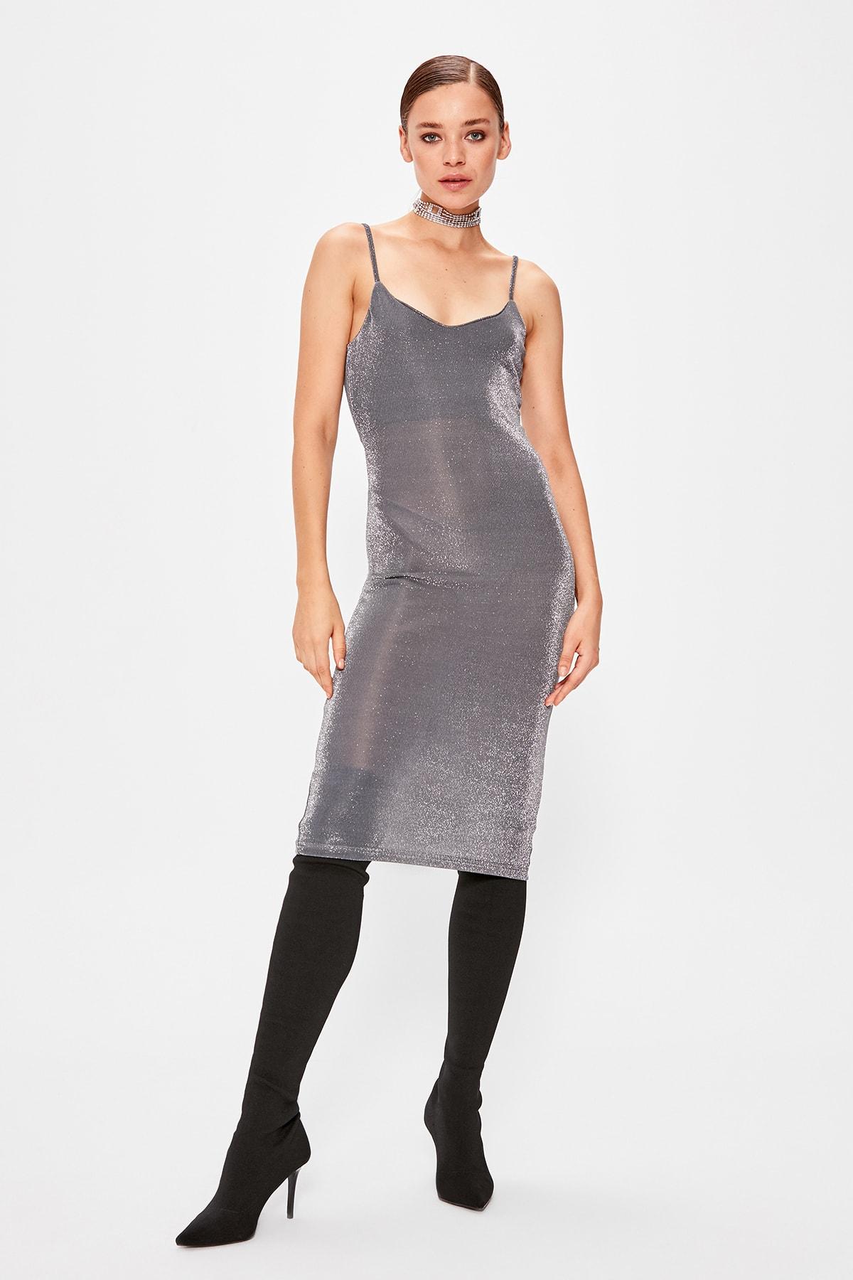Trendyol Glitter Dress TPRSS19SE0104