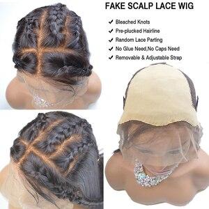 Image 4 - 13x6 парики из натуральных волос на кружеве, короткий парик из искусственной кожи головы, прямой, короткий, длинный, предварительно выщипанный с детскими волосами Remy для черных женщин 130%