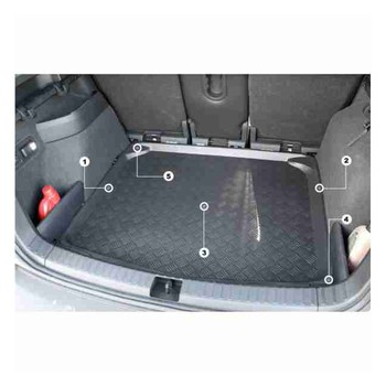 MAT COVERSMALETERO MERCEDES C CLASS W204 REAR SEATS NOT FOLDING Since 2007