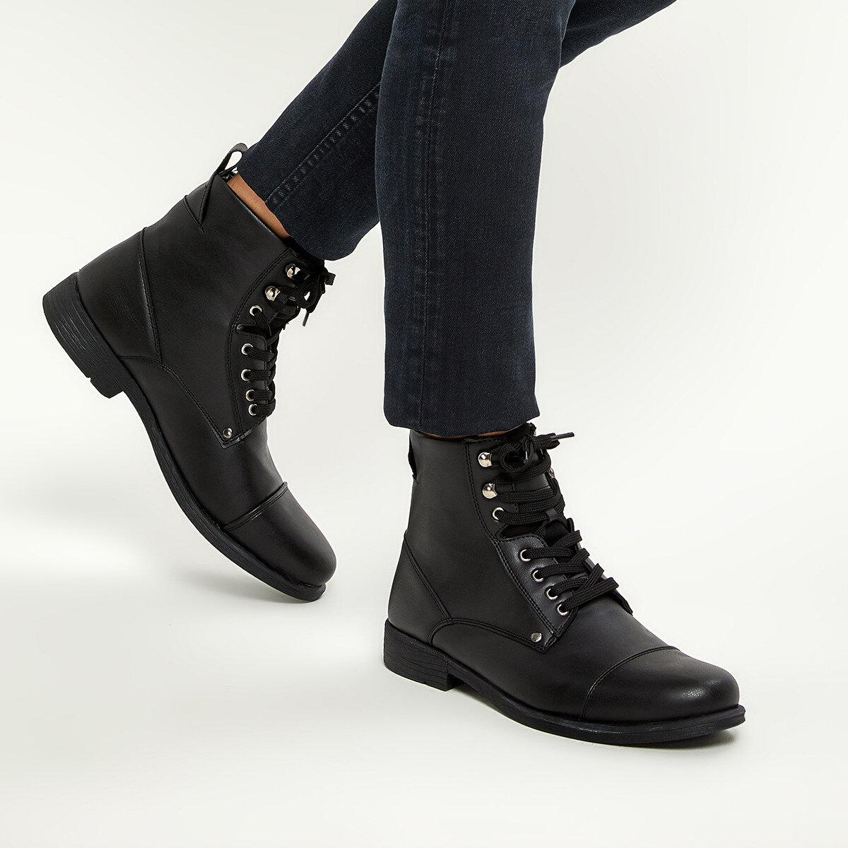 FLO FL-B-7000 Black Men Boots JJ-Stiller