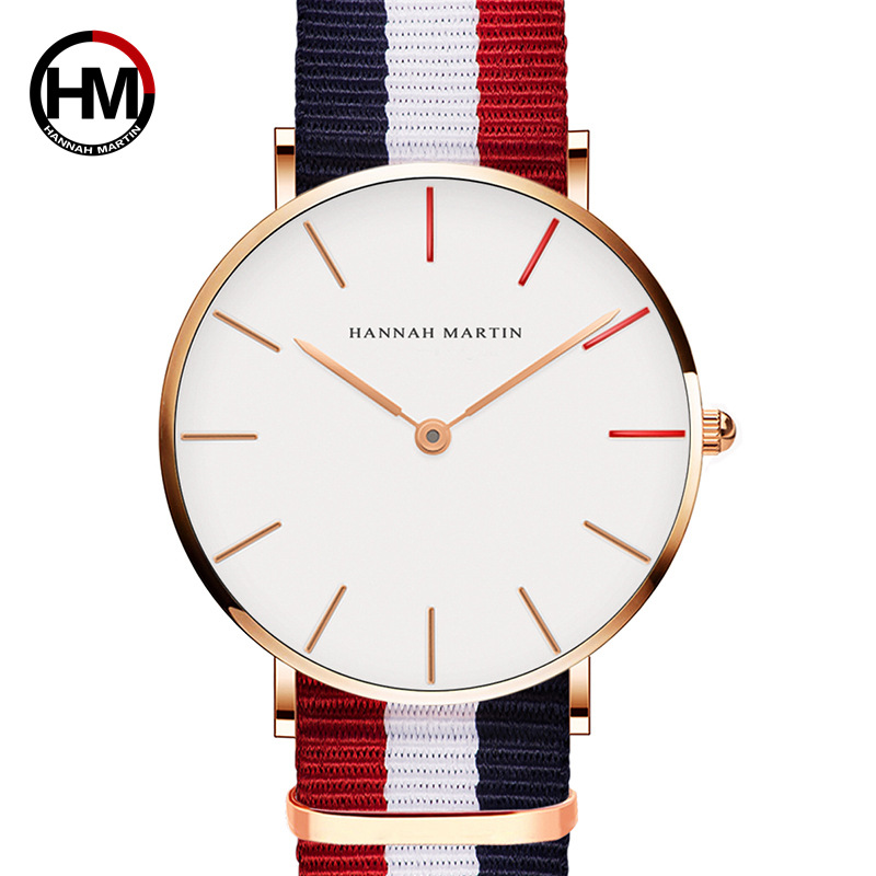 Hannah Martin Luxury Brand Quartz Watches Women 2019 Ladies Watch Simple Thin Women's Watches Dress Wristwatch Relogio Feminino