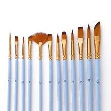 12 шт., набор тонких кистей для красок, двойной цвет, таклон, кисти для красок, акриловая акварель маслом, набор для рисования художника