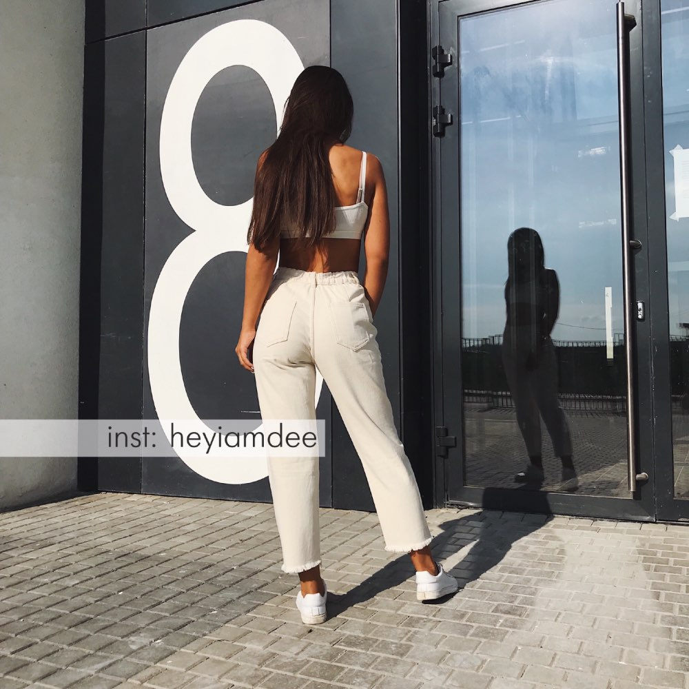 Wixra New Stylish Solid Casual Women'S Pants High Waist Pockets Long Trousers Spring Autumn Ladies Jeans Bottom photo review