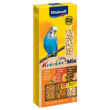 Лакомство для птиц VITAKRAFT Крекеры для волнистых попугаев мед, кукуруза, апельсин(3шт.уп