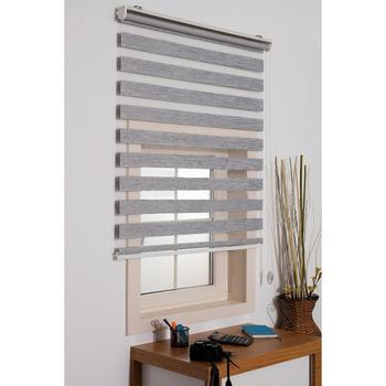 FREE SHIPPING Gray Bamboo Zebra Roman Roller Blinds Curtain Custom Double Layer Office Home Living Room Window Kitchen Customize
