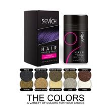 Sevich 12 г волокна волос кератин утолщение спрей продукты выпадения волос одноразовый парик восстановление порошок волосы строительные волокна спрей TSLM1