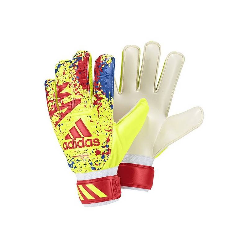 Goalkeeper Gloves For Children Adidas Classic TRN Yellow
