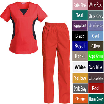 Women's Nursing Uniform Set Top and Pants