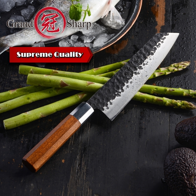 NEW 2019 Japanese Kitchen Knives Handmade Kiritsuke Knife Chef Cooking Tools Wood Handle  High Quality Eco Friendly Products 4