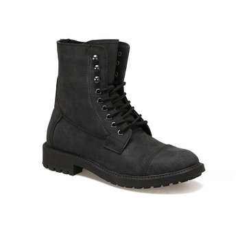 FLO EC-1009 Black Men Boots Forester
