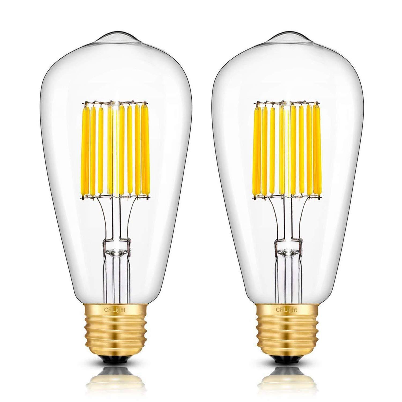 Светодиодный лампы 3200K мягкий белый, 700LM 70 ватт эквивалент E26 Средний База, Винтаж ST64 прозрачный Стекло Светодиодный лампочки накаливания, уп...